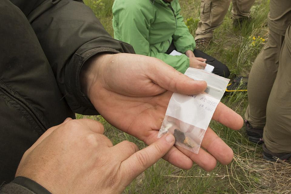 The soil profile samples will be sent off to the lab for optically stimulated luminescence (OSL) dating. The dating technique will be crosschecked against ceramic artifacts that have been dated between 950 and 1350 years ago.