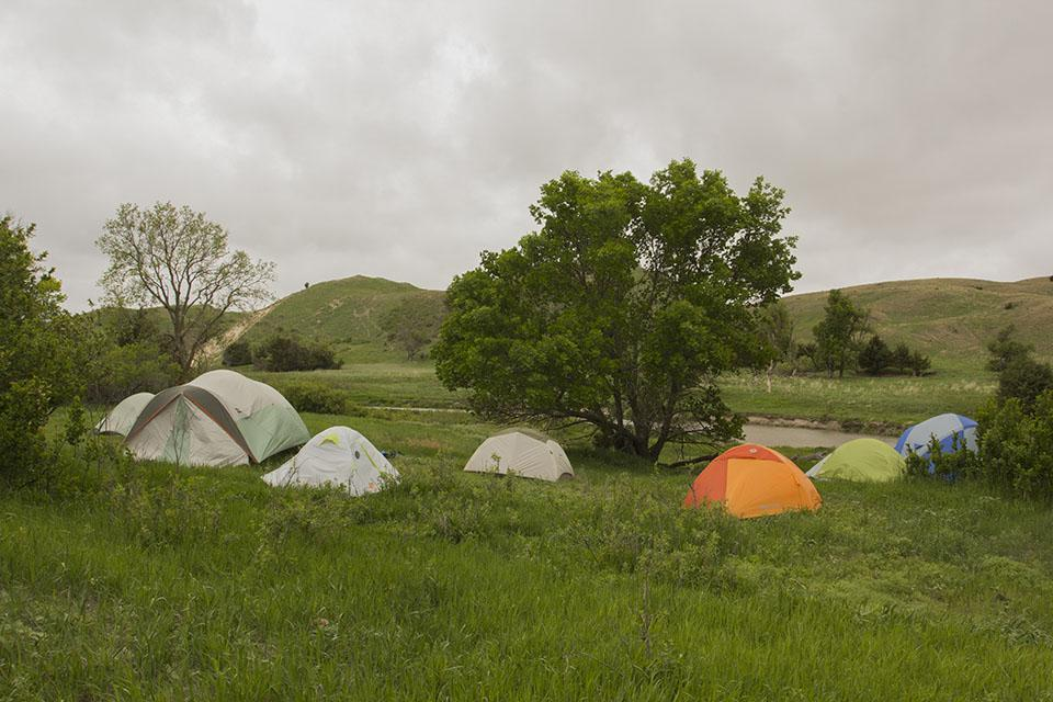 The team camped on location at the Kelso site near the Middle Loup River east of Mullen in the heart of the Nebraska Sandhills.
