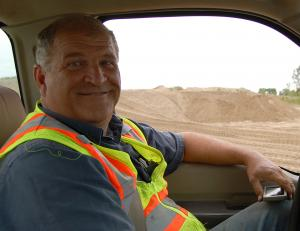 Keith Carroll is the superintendent at Western Sand and Gravel near Ashland, Neb. (Ariana Brocious)