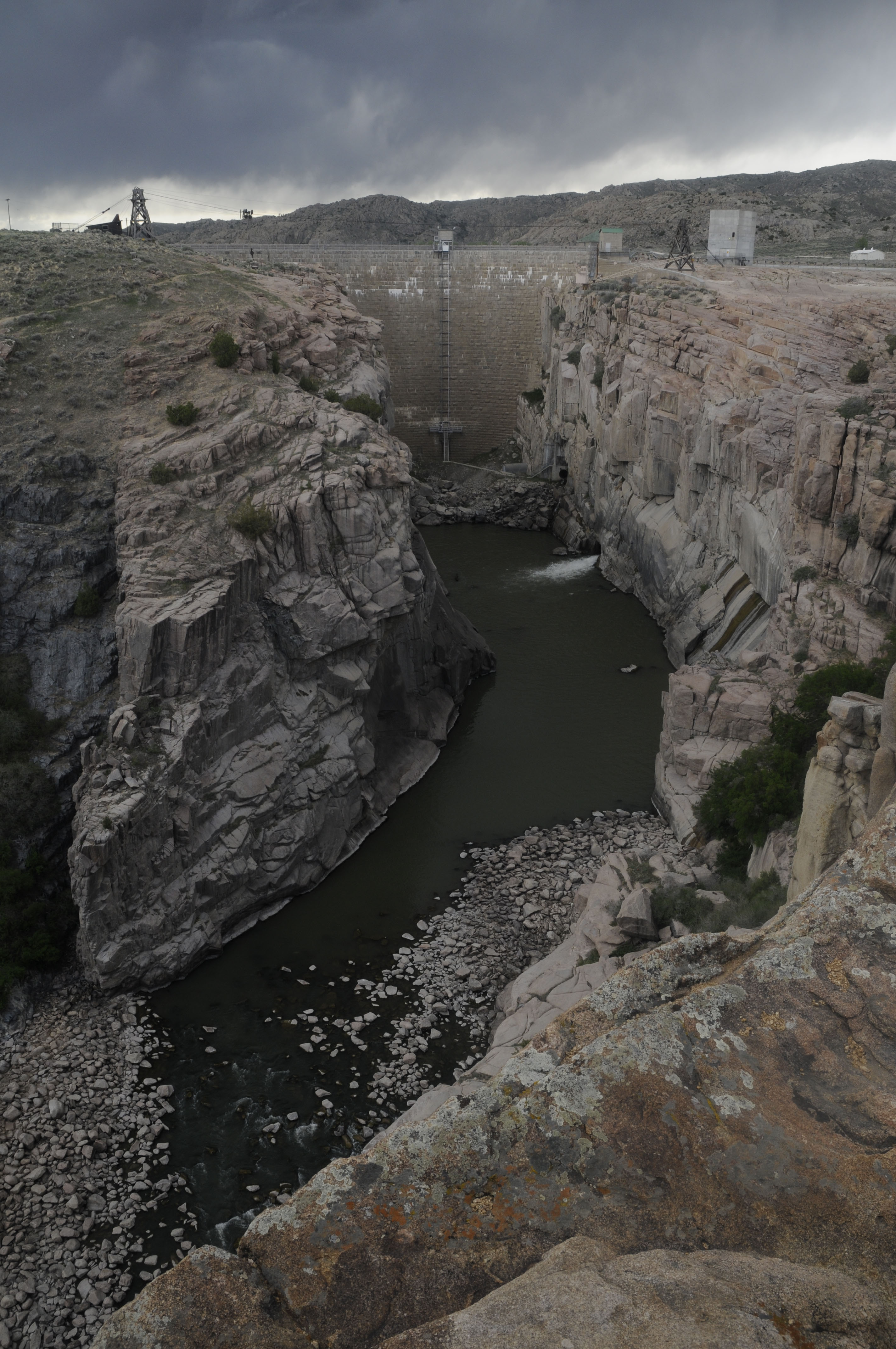 Pathfinder Dam on the North Platte River. (Michael Farrell)