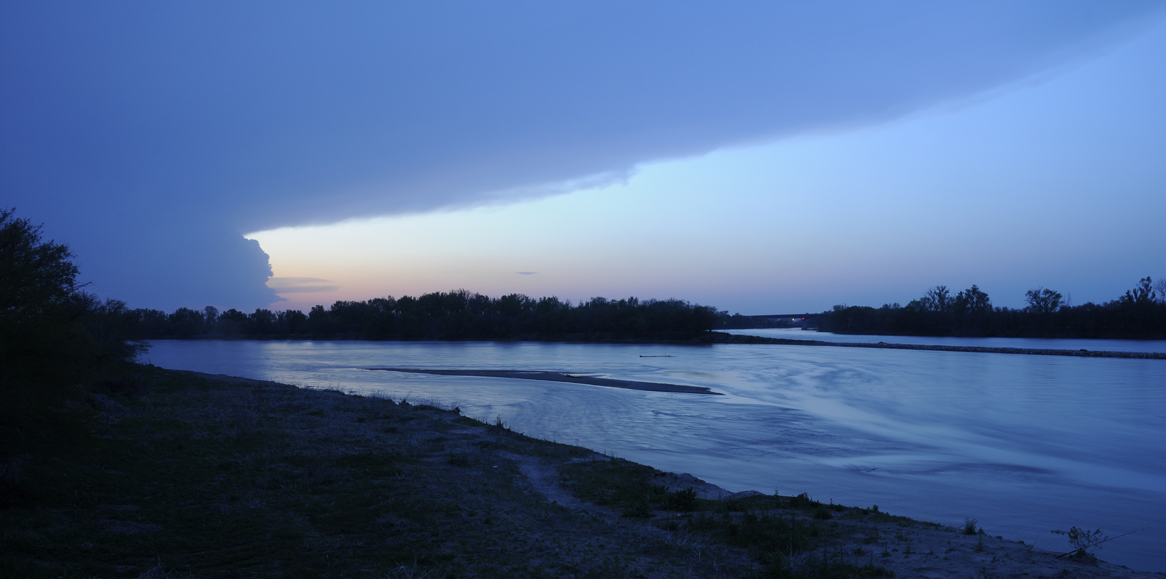 The confluence of the Platte and Missouri rivers near Plattsmouth, Neb. (Michael Forsberg)