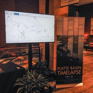Our interactive map of time-lapse videos on display at the conference. (Steven Speicher)