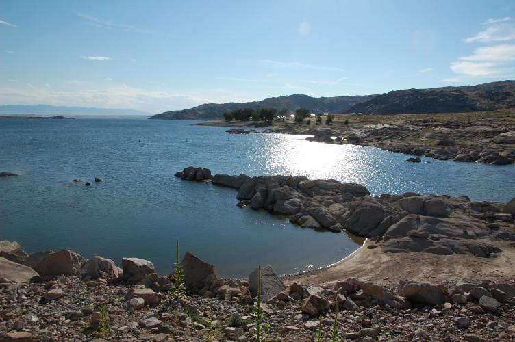 Pathfinder Reservoir. (Ariana Brocious)
