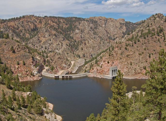 Seminoe Dam, North Platte River. (Ariana Brocious)