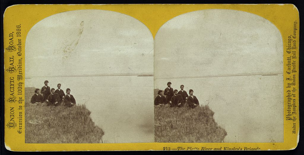 A group of travelers on the banks of the Platte River. (John Carbutt, Library of Congress)