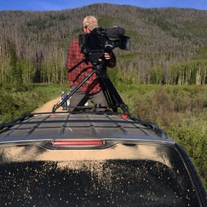 Gathering video footage high up in the Rockies. (Peter Stegen)