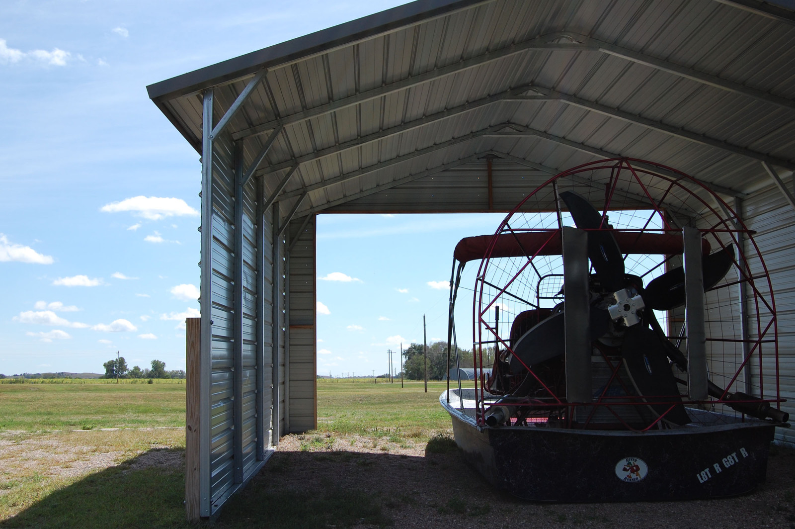 Jim Rice's airboat. (Ariana Brocious)