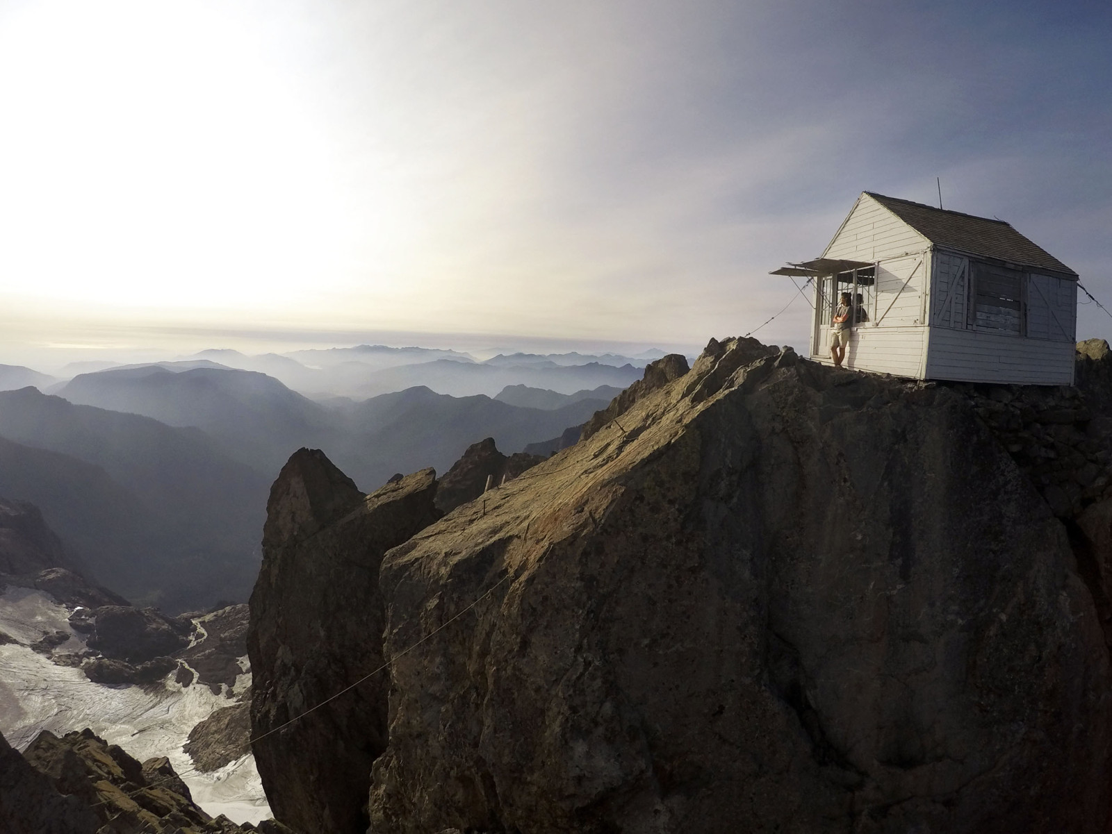 A night spent above the clouds at an old fire lookout cabin in Washington's Mt. Baker-Snoqualmie National Forest. (Cristina Woodworth)