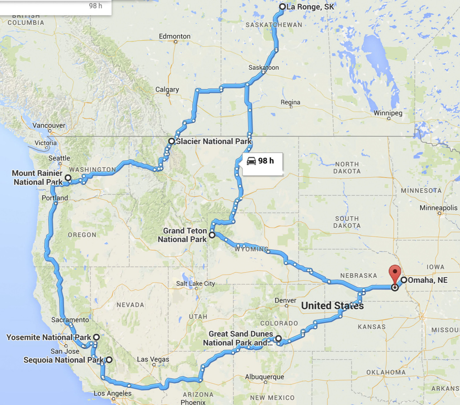 The long route.